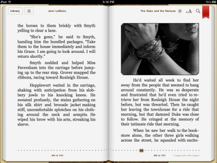 The Rake and The Recluse illustrated romance, screenshot, ipad epub version,