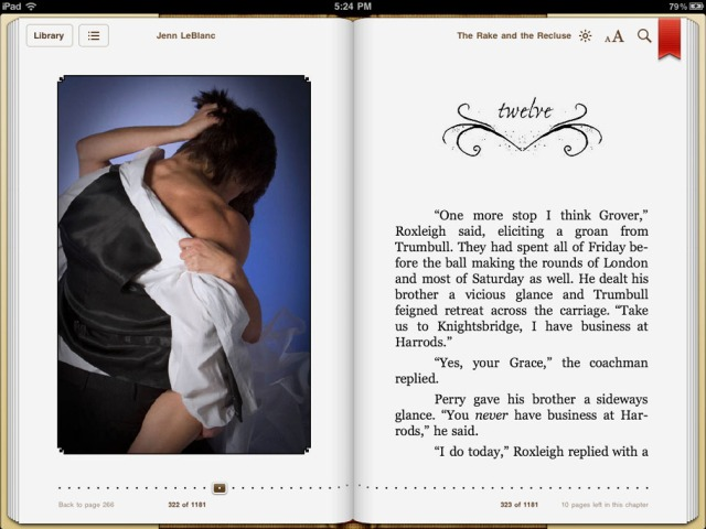 The Rake and The Recluse illustrated romance, screenshot