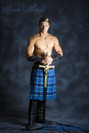 Derek Hutchins as highlander by Jenn LeBlanc